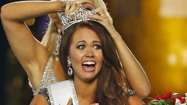 Cara Mund was crowned Miss America on Sept. 10, 2017. Picture: AP Photo/Noah K. Murray, File)
