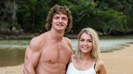 Nick 'Honey Badger' and Shannon Baff on their single date. Picture: Ten