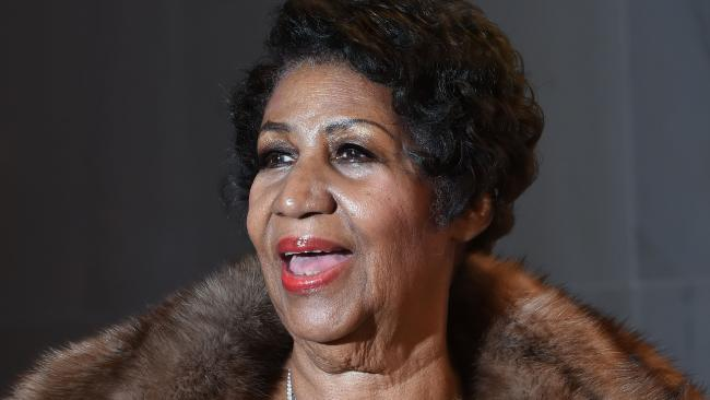 The late, great Aretha Franklin. Picture: MOLLY RILEY / AFP