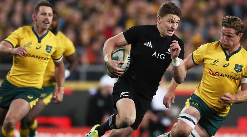 Beauden Barrett carved the Wallabies to pieces. (Photo by Matt King/Getty Images)