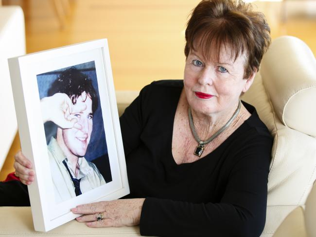 Linda Campbell still mourns the death of her son Andrew who she lost 23 years ago. Picture: Justin Lloyd
