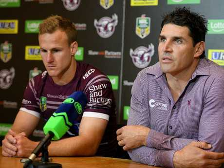 Daly Cherry-Evans and Trent Barrett were filthy in yesterday's post-match press conference.