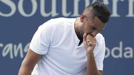 Nick Kyrgios struggled at times to stay motivated.