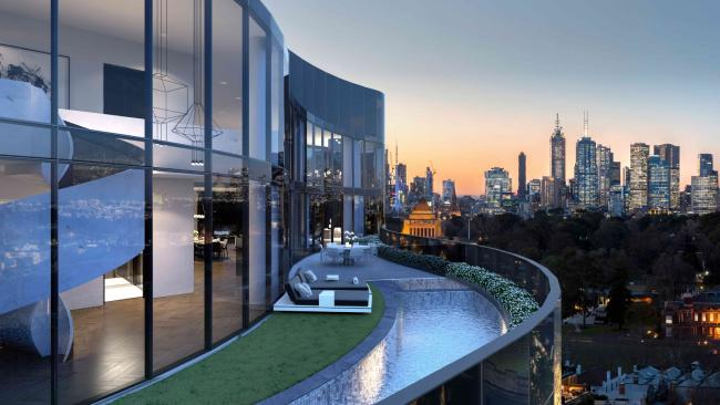 The penthouse will boast a pool, and this view.