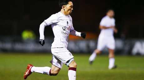 Tasuku Sekiya could line up against his nations' football idol on Tuesday night.