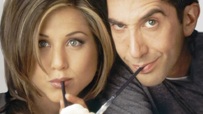 Jennifer Aniston and David Schwimmer in their most iconic roles as Rachel and Ross. Picture: NBC/NBCU Photo Bank via Getty Images