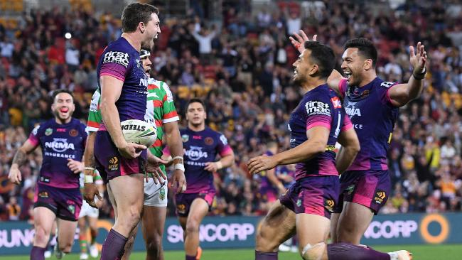 The players showed their spirit against South Sydney. (AAP Image/Dave Hunt)