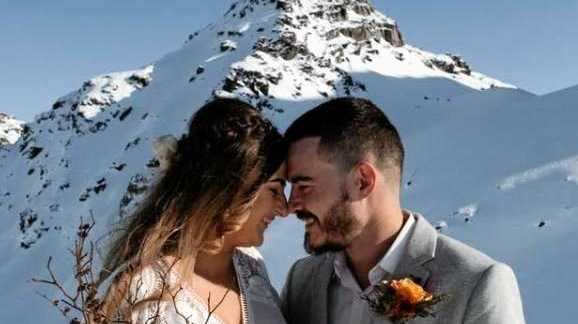Aimee Schulte: My now husband and I ran away and eloped in New Zealand, July 24, 2018. Felt on top of the world!