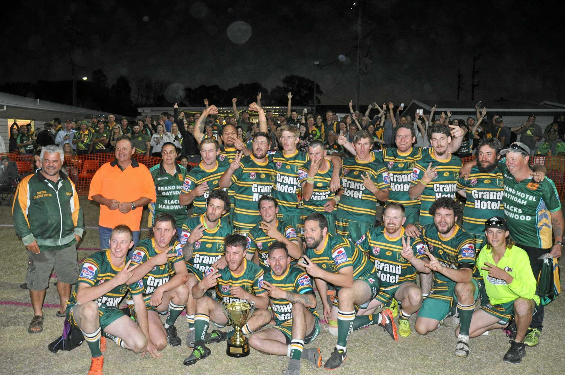 The community turned out in force to cheer Gayndah on to their second straight premiership.