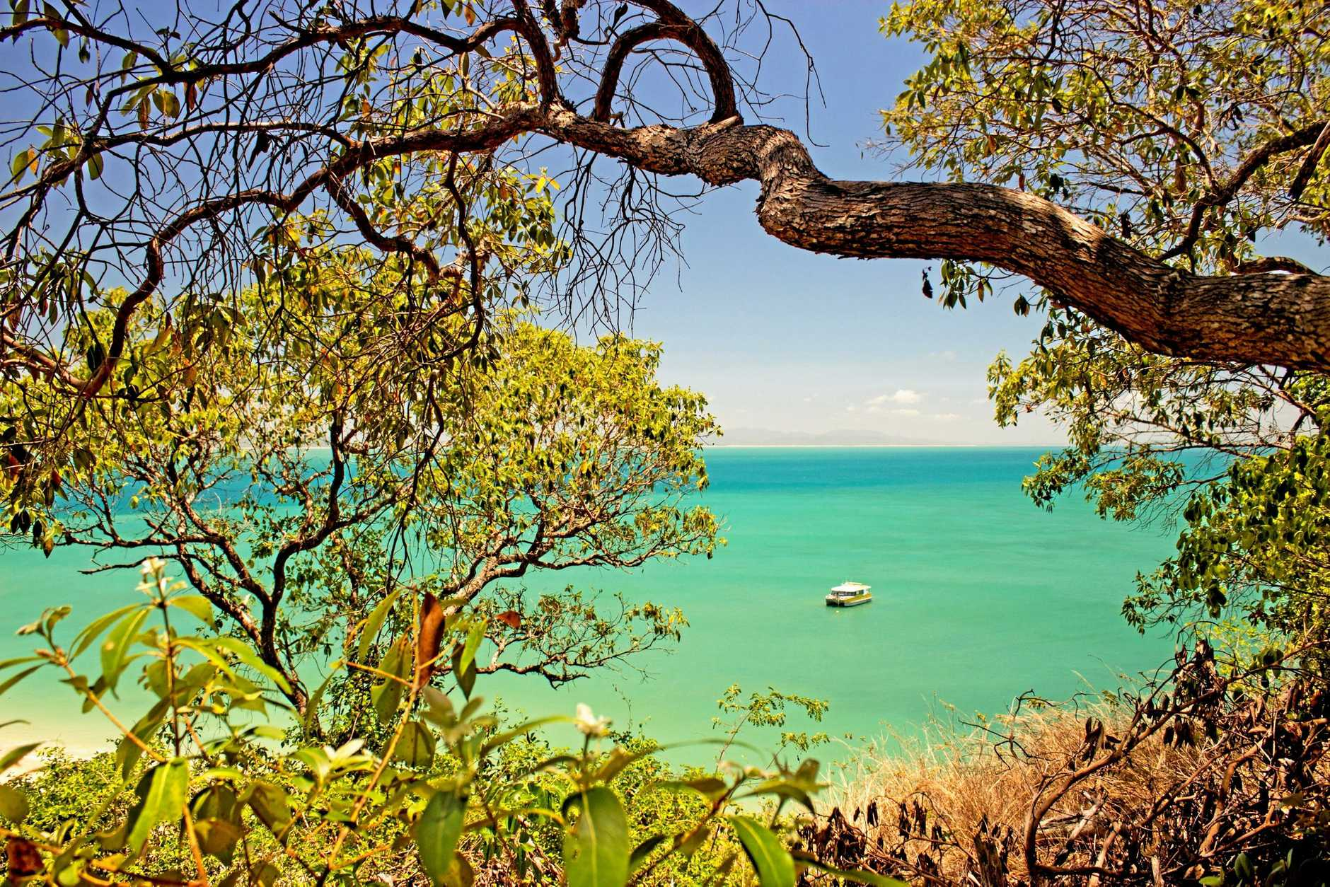 Looking back to the mainland from North Keppel Island