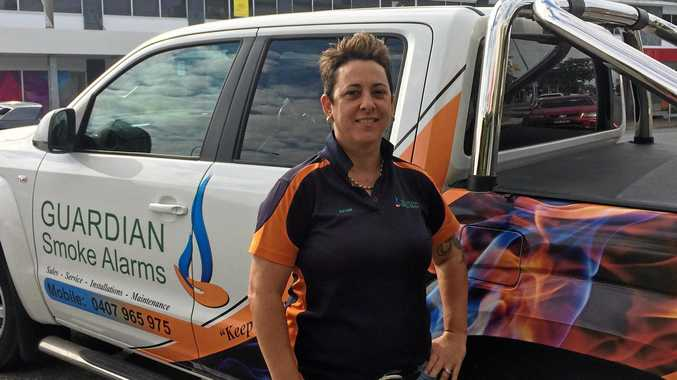 EDUCATING SAFETY: Naomi Barton from Guardian Smoke Alarms in CQ has used her teaching skills to keep her clients safe from any harm.