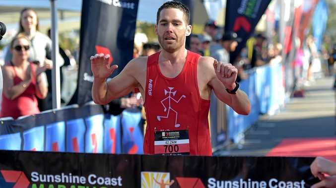 CHAMP: Chris Rancie won the Sunshine Coast Marathon.