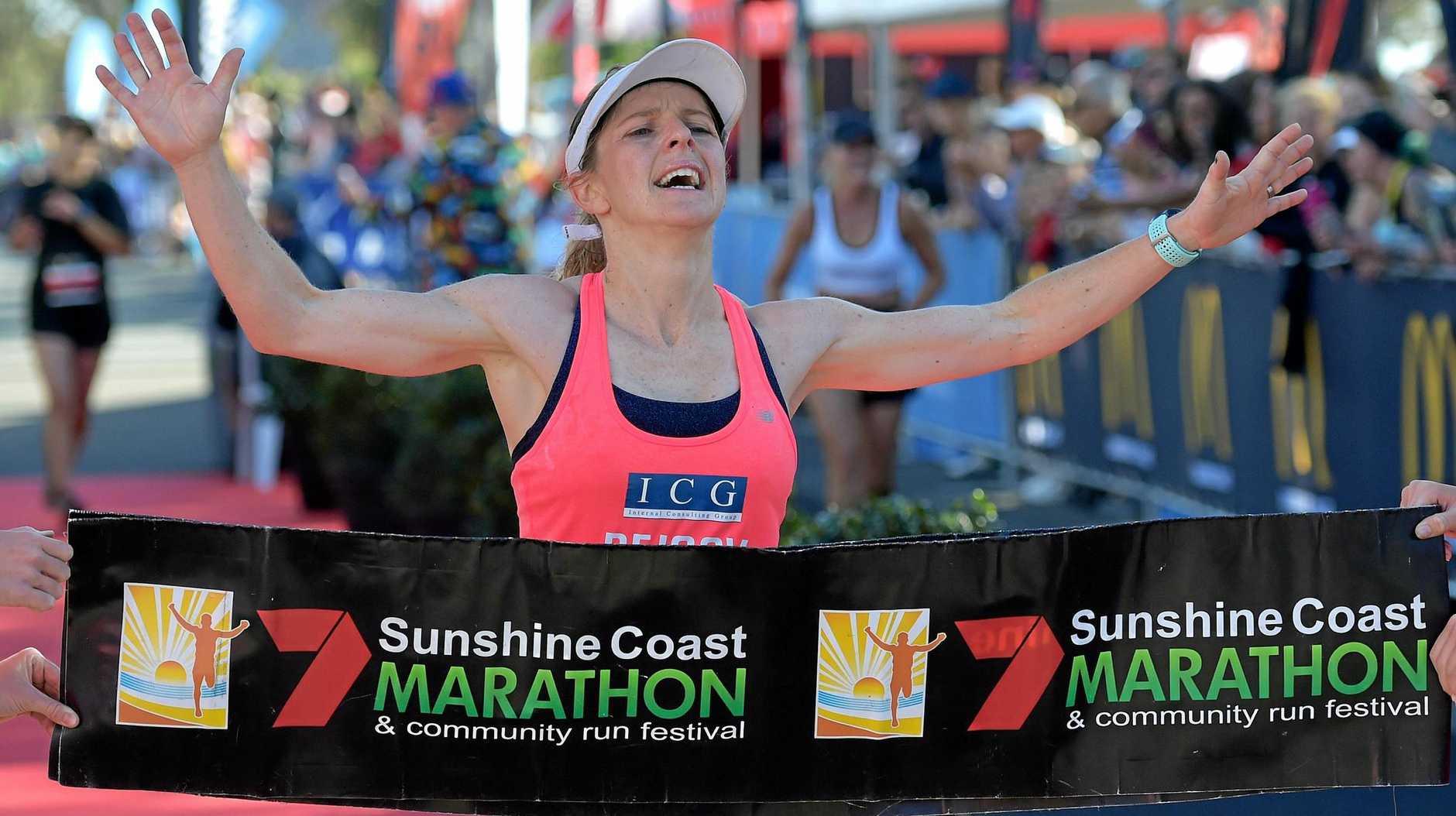 CHAMPION: Eleanor Goldrick won the marathon.