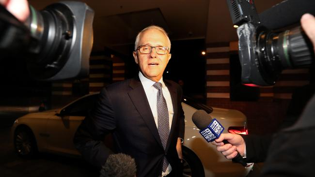 PM Malcolm Turnbull attending a Nationals Party Reception at the Hyatt Hotel in Canberra. Picture Kym Smith