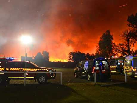 Today, residents at Salt Ash have been told it's too late to leave. Picture: Karl Hofman
