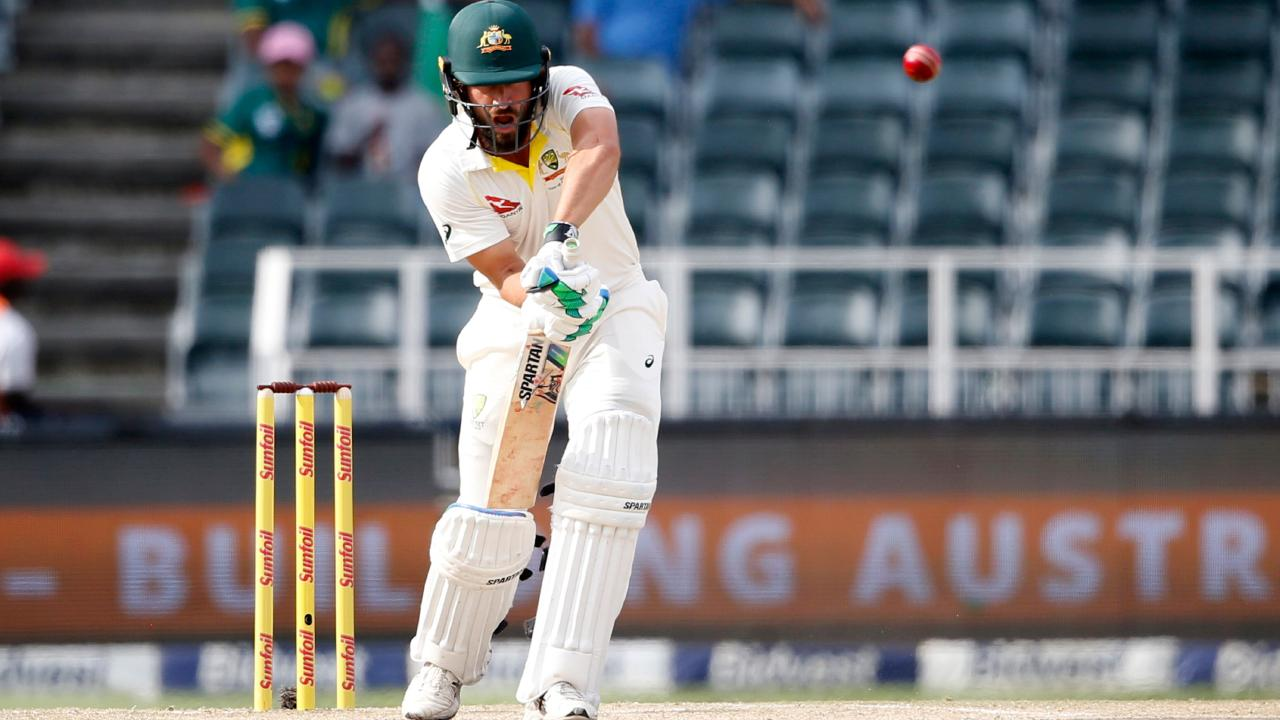 Australian batsman Joe Burns plays a shot during the Test against South Africa at the Wanderers. Picture: AFP