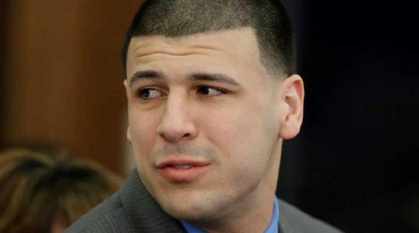Former NFL star Aaron Hernandez in court.