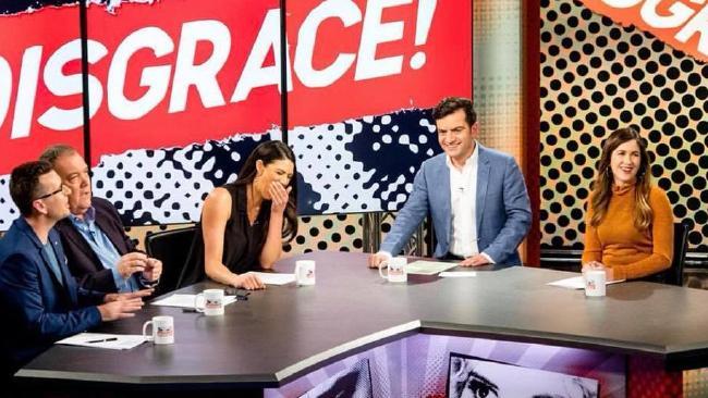 Disgrace! stars Sam Dastyari, Becky Lucas and KIIS FM's Intern Pete.