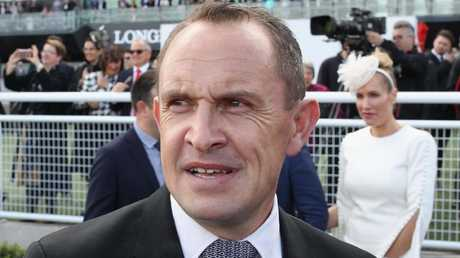 Trainer Chris Waller after Winx's win on Saturday. Picture: Getty Images