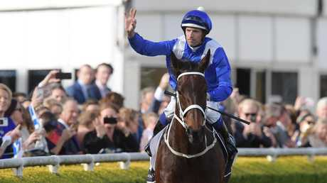 Winx smashed legendary sprinter Black Caviar's Australian win record when she made it 26 in a row at a race named in her honour.