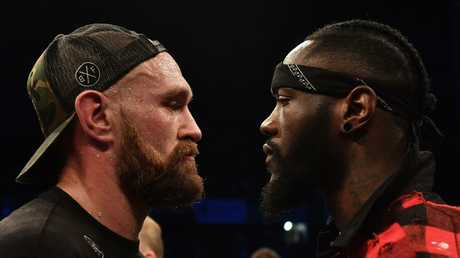 Tyson Fury and Deontay Wilder are ready to rumble. Picture: Getty