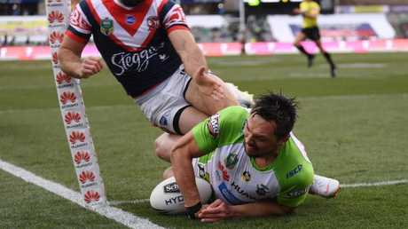 Canberra scored one try all day. AAP Image/Lukas Coch.