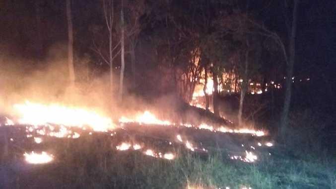 A large bushfire near Blackbutt has been threatening homes. Photos courtesy of Brooklands Rural Fire Brigade.