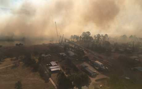 Tabulam warned after fire jumps the Clarence River