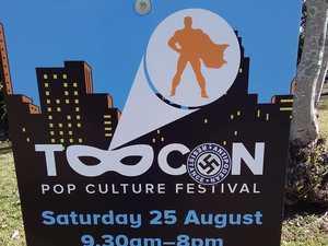 Neo-Nazi group put swastika stickers up around Toowoomba