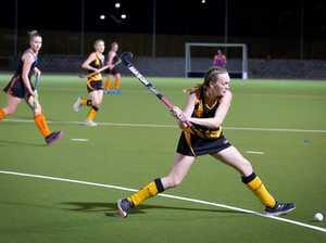 Souths Brianna Richards.Womans A1 hockey grand final