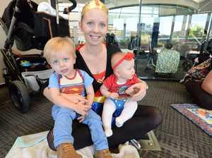 Allison Bekker with son Ryan and daughter Lara