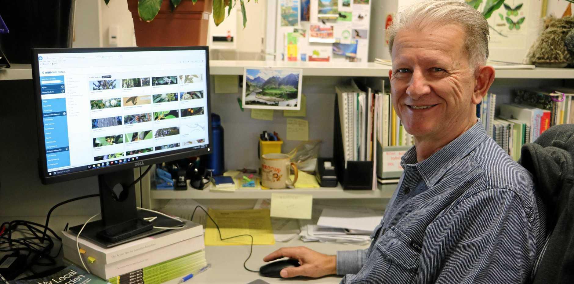 PLANTMAN: Former nurseryman and landscape gardener John Turnbull is the Tweed Shire Council Bushland Officer.