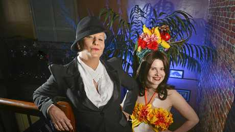 MEAL AND MYSTERY: Lena Marlene and Ophelia Novak star in Hollywood Glamour - Murder Mystery at Nu Orleans next month.
