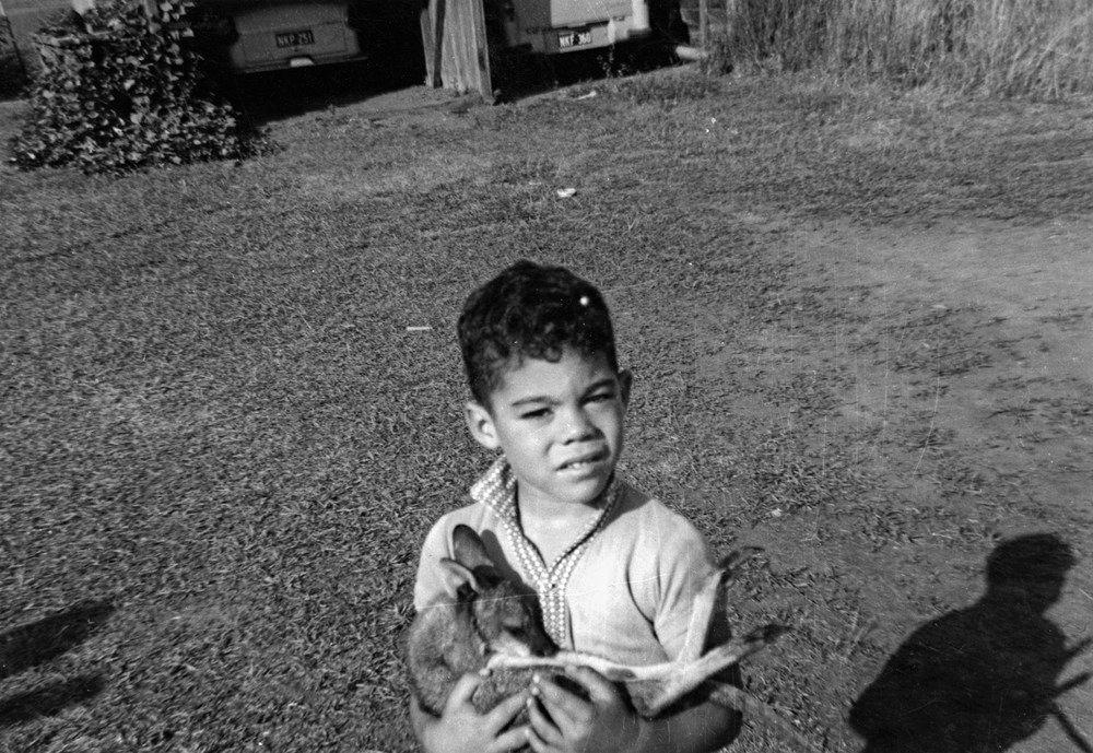 Mal Meninga in 1965 with his pet kangaroo. Aged five, this was around the time his rugby league journey began with the mighty Monto Roos.