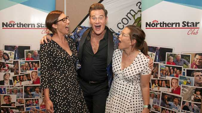 Members of the Northern Star Club with Friday night's guest speaker, hilarious Hollywood correspondent and commentator Richard Reid.