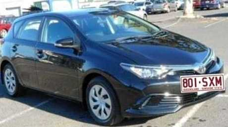 The girls are travelling in a black 2013 Toyota Corolla hatchback with Queensland registration 801-SXM.
