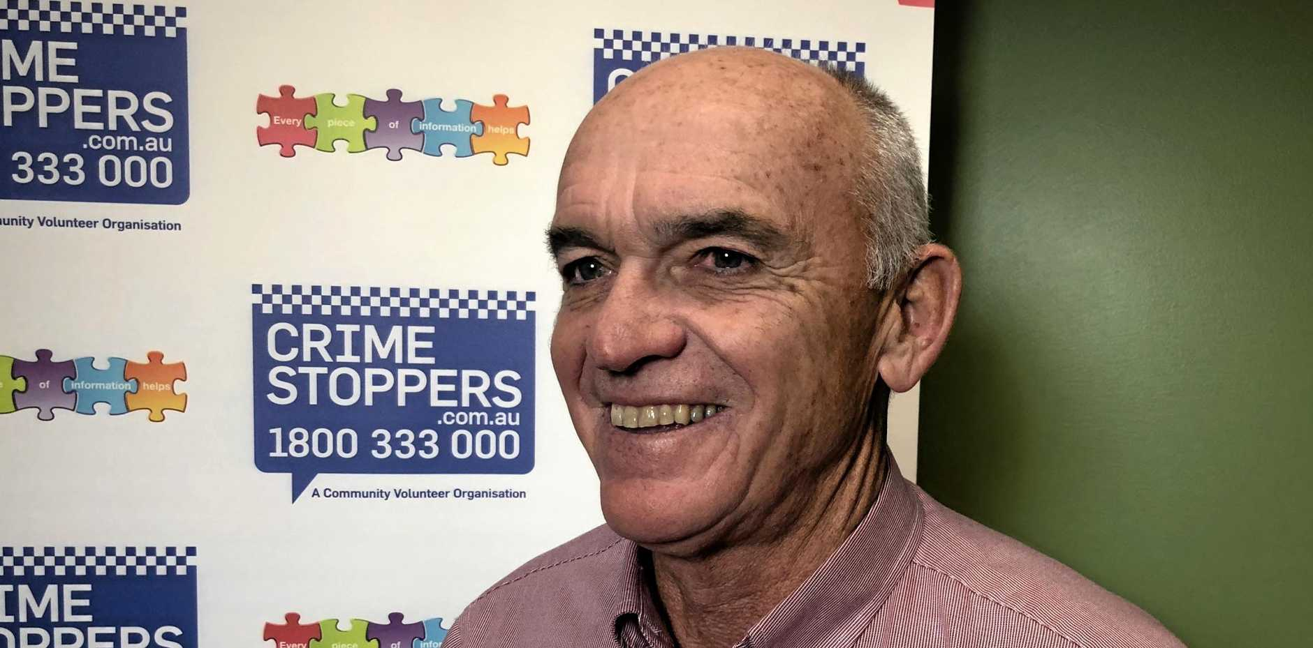 POLICE HELP: Chair of Crime Stoppers Queensland, Andy Henderson.