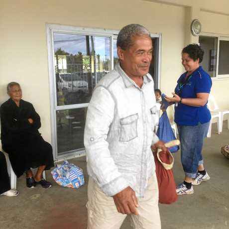Cr Whelan said the smile of this gentleman at Popua Hall made the mission in Tonga especially worthwhile.