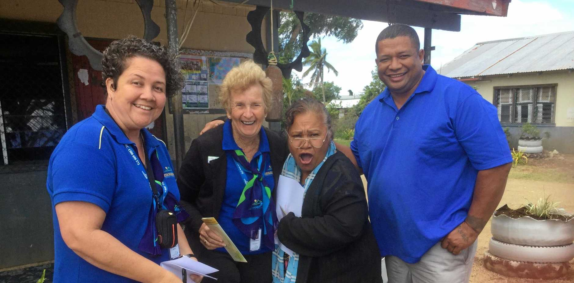 CARING COMMUNITIES: The Popua School Deputy Principal was thankful for the support Mundubbera provided after Tonga was hit by cyclone Gita.