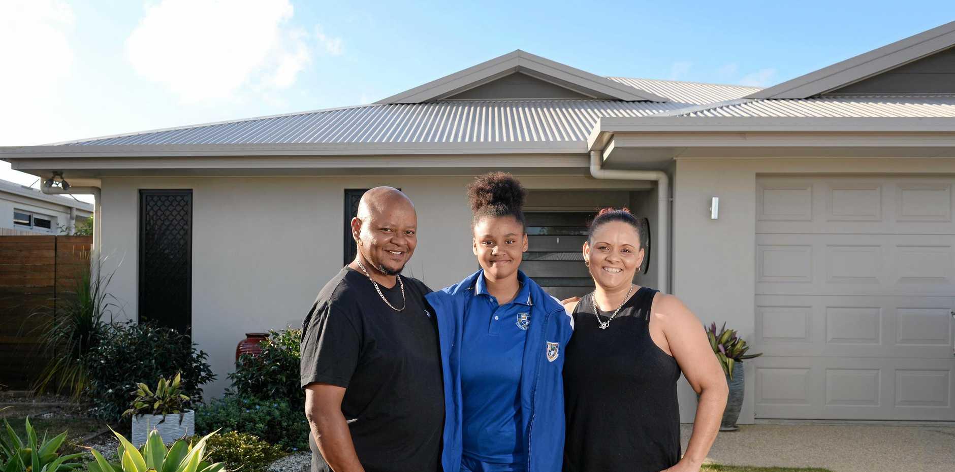 SUPPORTIVE COMMUNITY: Ricardo, Ciara and Sonia Davids at home in Mt Pleasant.
