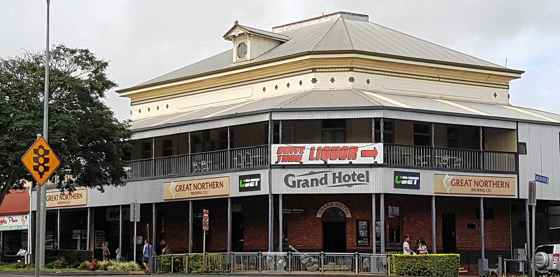 POLICE INVESTIGATE: The manager of The Grand Hotel in Childers was assaulted at the weekend.