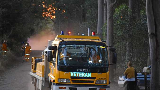 Gympie firefighters save houses, selves from raging bushfire