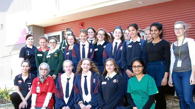 NEXT GEN: Year 9 and 10 students in Stanthorpe visited the hospital to take part in the collaborative Aspire to Health program.