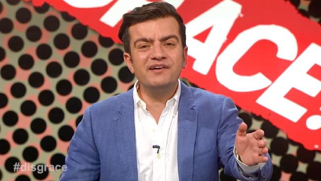 The pilot of Sam Dastyari's show Disgrace! premiered last night on Ten.