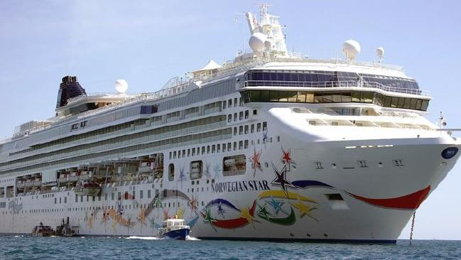 A British woman has survived 10 hours at sea after falling overboard the Norwegian Star cruise liner. picture: Norwegian Star