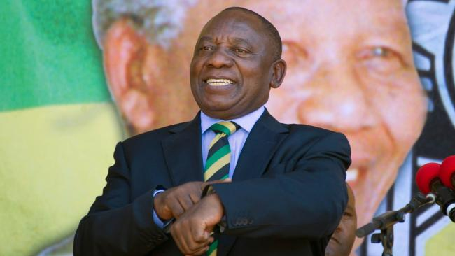 South African president Cyril Ramaphosa. Picture: Rodger Bosch/AFP