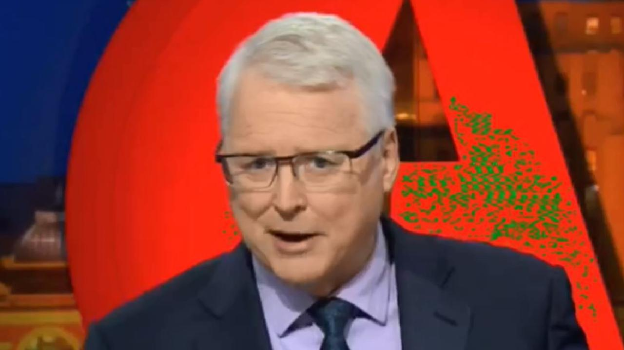 Tony Jones has been slammed over a remark he made to a Muslim panellist on tonight's Q&A show.