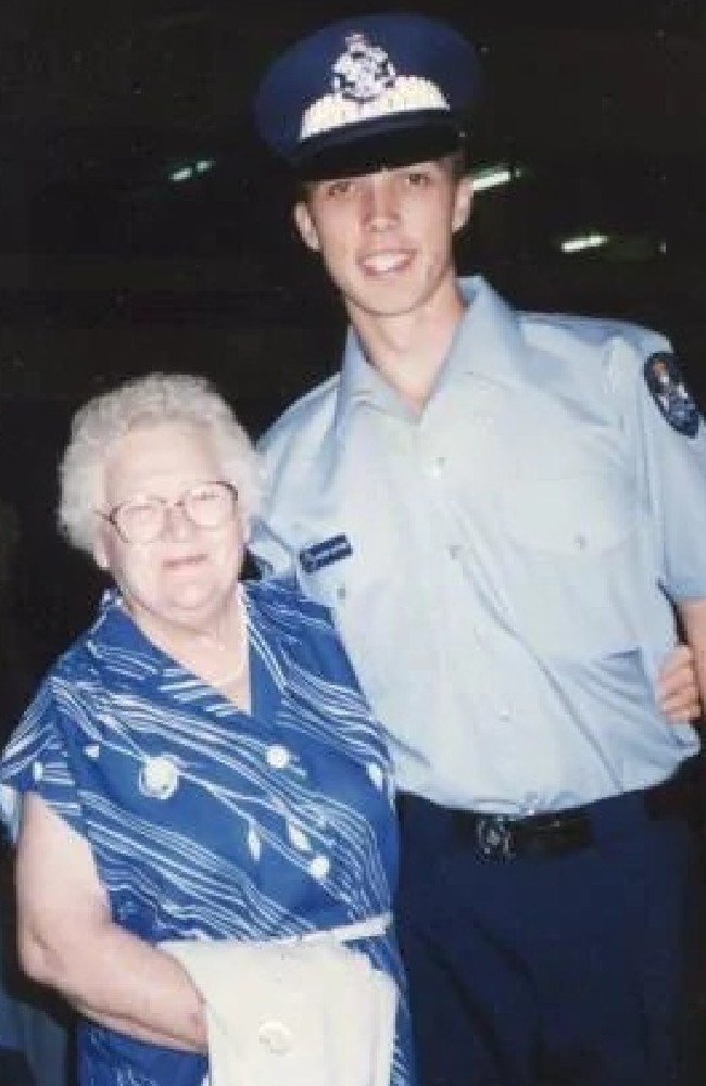 Peter Dutton as a police officer with his grandmother.