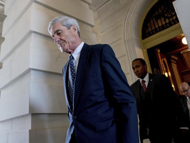 Former FBI Director Robert Mueller, special counsel probing Russian interference in the 2016 election, has 30 hours of testimony, reports the . Picture: AP Photo/Andrew Harnik