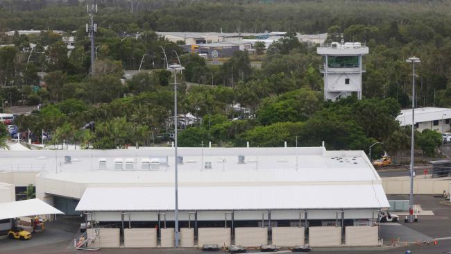Aerial image over Sunshine Coast Airport. Photo: Lachie Millard.